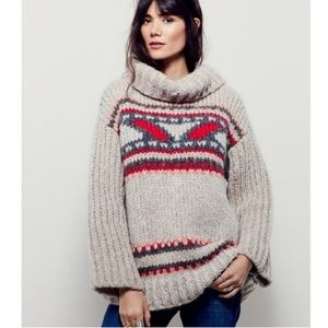 Free People Soft Touch Caravelli Alpaca Sweater XS